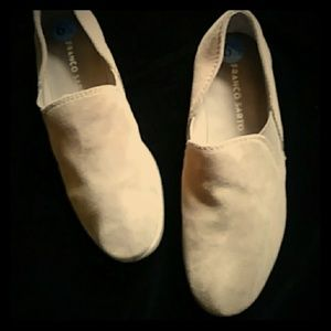 Franco Sarto tan leather suede pull ons-sz 6 1/2